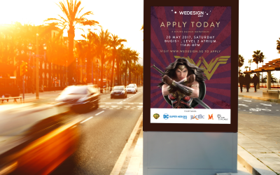 Wonder Woman Bus Stop Ad